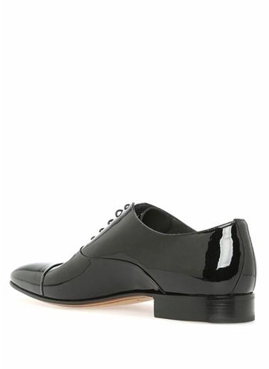 Moreschi %100 Deri Rugan Bağcıklı Klasik Ayakkabı Siyah